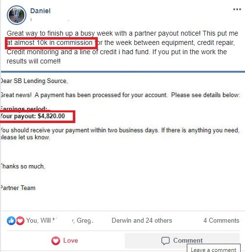 daniel proof of success payouts
